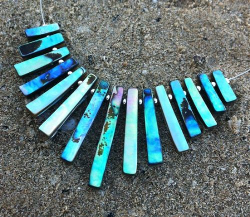 Paua Fans Necklace (PN103)
